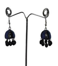 Buy Blue Black Small Terracotta Jhumka danglers-drop online