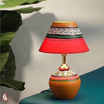 Handcrafted terracota Lamp