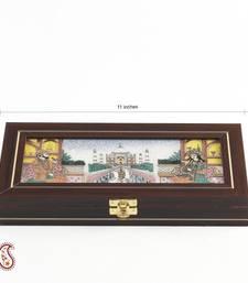 Buy Taj Mahal Design Precious Stones Inlay Work Gem Box diwali-gift online