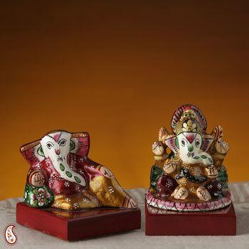 Sankatahara Ganapathi made in Enamelled Metal