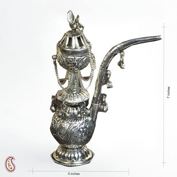 Antique Miniature Hookah crafted in White Metal