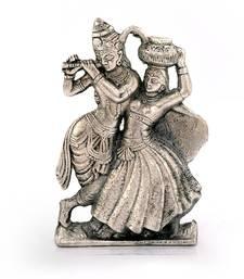 Buy Lord Radha Krishna Antique White Metal Idol Deepawali Gift 311 diwali-silver-gift online