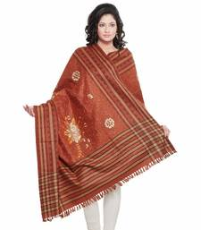Buy Embroidered Stripes n Floral Design Kashmiri Shawl Diwali Gift 206 shawl online