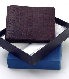 Buy Gents Supreme Quality Pure Leather Brown Wallet Deepawali Special Gift 111 gifts-for-husband online