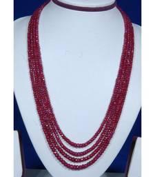 Buy ONYX RUBY COLOUR SET necklace-set online