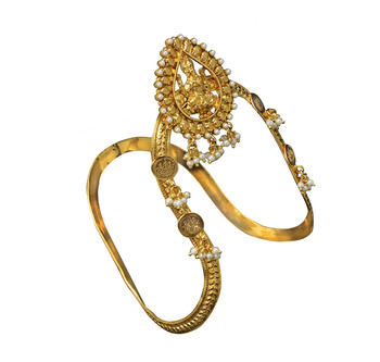 Traditional & Antique Temple Bajuband or Vanki one Piece for Bridal women Jewellery Bajuband