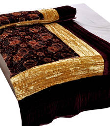 Buy Jaipuri Maroon Jaipuri Double Bed Velvet Quilt 407 razai online