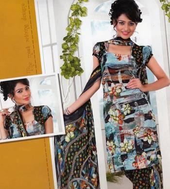 Dress material crepe designer prints unstitched salwar kameez suit d.no AP814