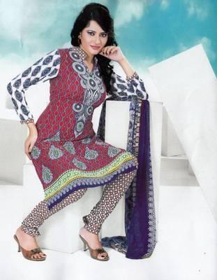 Dress material crepe designer prints unstitched salwar kameez suit d.no NT1508