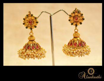 New Temple Jewellery - Jhumka 1