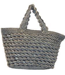 Buy Sequins Crochet Small Handbag   Ash Grey handbag online
