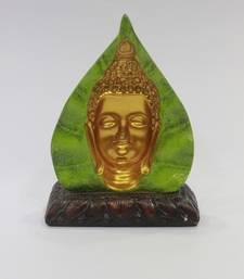 Buy 3 Dimensional leaf  Goutham buddha resin material mutlicolour dummy online
