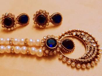 royal blue stylo set with mala
