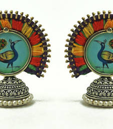 Buy color carnival- peacock studs stud online