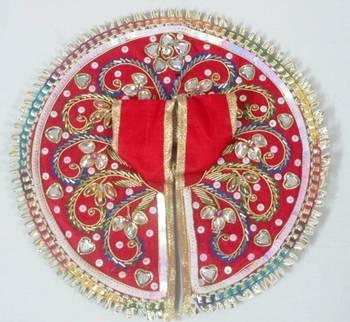 6.5'' Red Dabka Ladoo Gopal Poshak