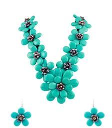 Buy Turquoise Blue Designer Necklace Set Jewellery for Women - Orniza necklace-set online
