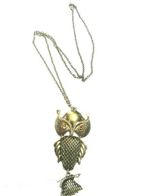 Stylish owl pendant with chain