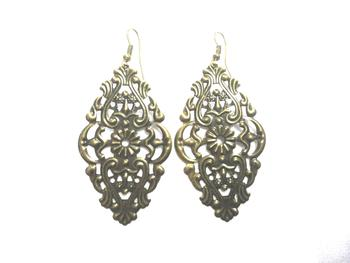 Copper light weight earrings