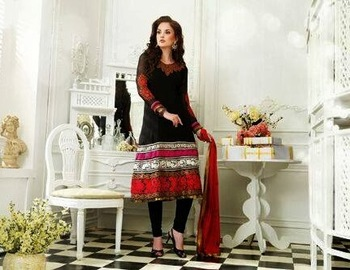 AWESOME RED & BLACKCURRENT HEAVY QURESHI ANARKALI SUIT