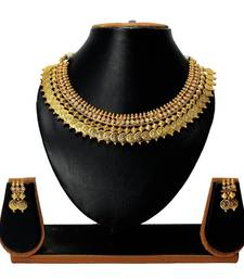 Buy Satyam jewellery Nx Golden Temple Coin Necklace Set for Women necklace-set online