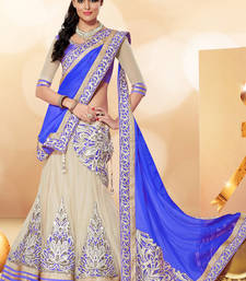 Buy blue net embroidery pakistani lehenga-choli eid-lehenga online