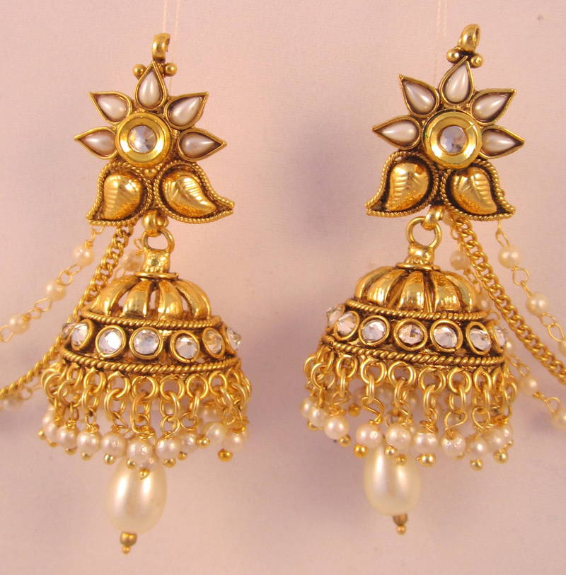 jhumka chandelier jhumkas buy gold earrings karat latest in this