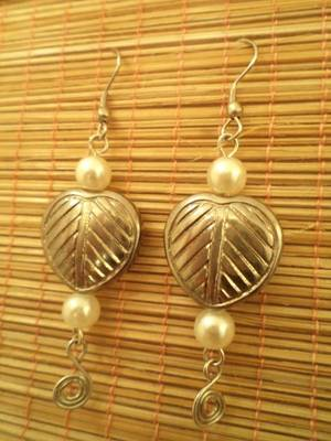 Antique Leaf Earrings-Aliff Lilaa-0109