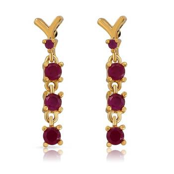 Mahi Endearing Earrings With Gold Plating