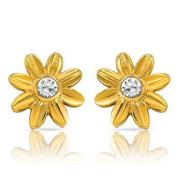 Mahi Floret Earrings With Gold Plating