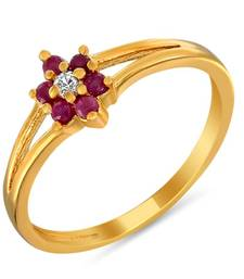 Buy Mahi Dainty Fingerring With Ruby Other online