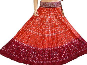 Bandhani Cotton Skirt