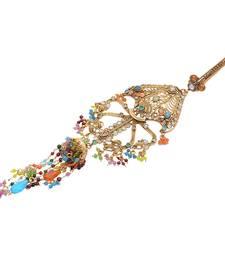 Buy Foppish Mart Purely Desi Stone Embedded Multi-colour Saree Challa/ Waist Key Chain/Satka key-chain online