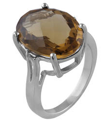 Buy sterling silver silngle stone ring Ring online