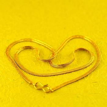 """gold platted chain size-18""""inch"""