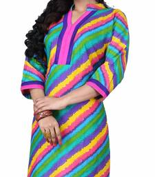 Buy Exclusive Designer cotton/Rayon printed Fancy Kurties kurtas-and-kurti online