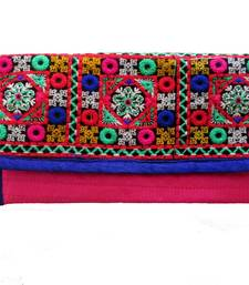 Buy Multi color Kuchi Work Purse clutch online