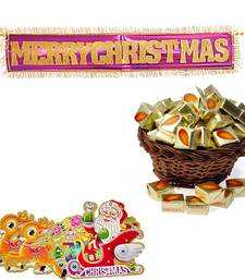 Buy Merry Christmas Hanging n 250gm Almond Chocolates 119 christmas-gift online