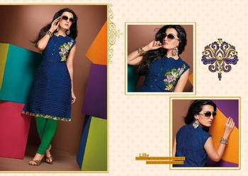 ISHIN Cotton Blue kurti Lilly_M