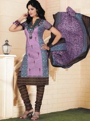 Cotton dress material elegant designer unstitched salwar suit d.no 1405