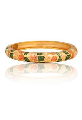 Enameled Gold Plated Bracelet (Green)