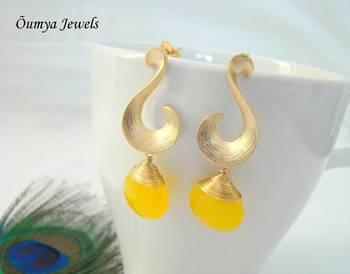 Yellow Swan earrings
