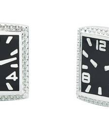 Buy Enamel Watch Black Rhodium Plated Brass Cufflink Pair for Men Other online