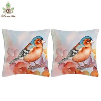 Bird Watercolor Digital Print Cushion Covers
