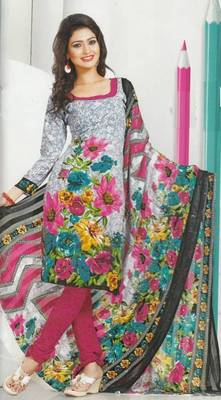 Dress Material Crepe Designer Prints Unstitched Salwar Kameez Suit D.No AP922