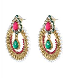 Buy The Aquamarine Scarlet ChandBali Earrings hoop online