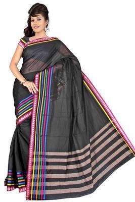 Pavechas Mangalagiri Solid Cotton Sari DNO 422