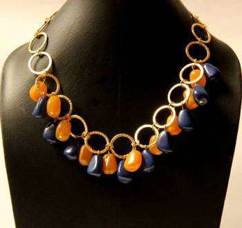 Yellow & Purple Neckpiece