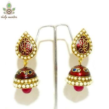 Shilpmantra's Exclusive Meenakari  Earrings