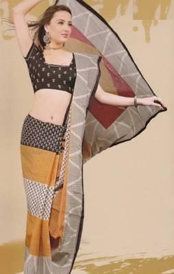 Sarees Mal Mal Cotton Designer Prints With Blouse Piece D.No D1001