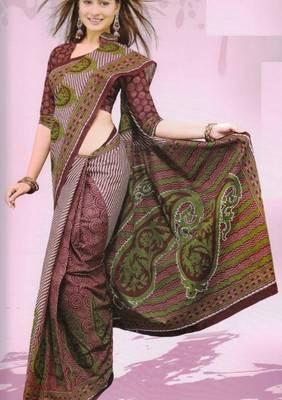 Sarees Mal Mal Cotton Designer Prints With Blouse Piece D.No D1016